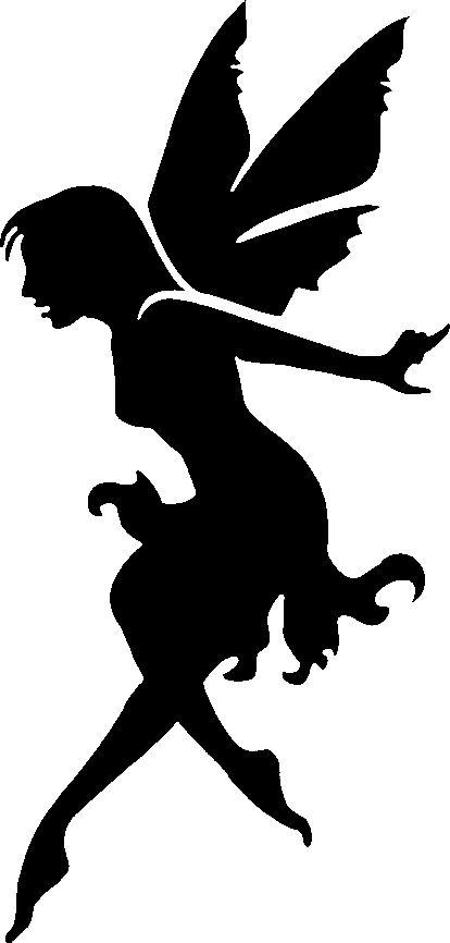 Fairy Silhouette Stencil Art Tattoo Stencils Stenciling Kobold