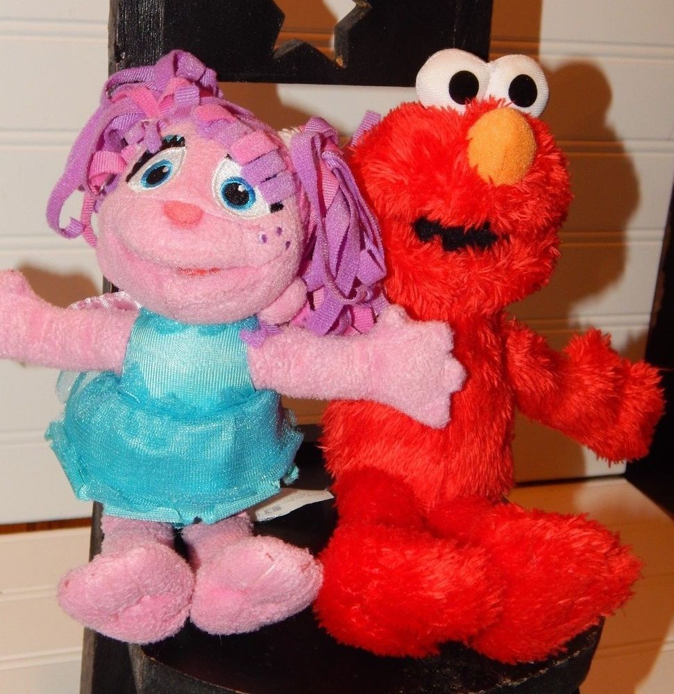 Lot Of 2 Sesame Street Plush Elmo Abby Cadabby Doll