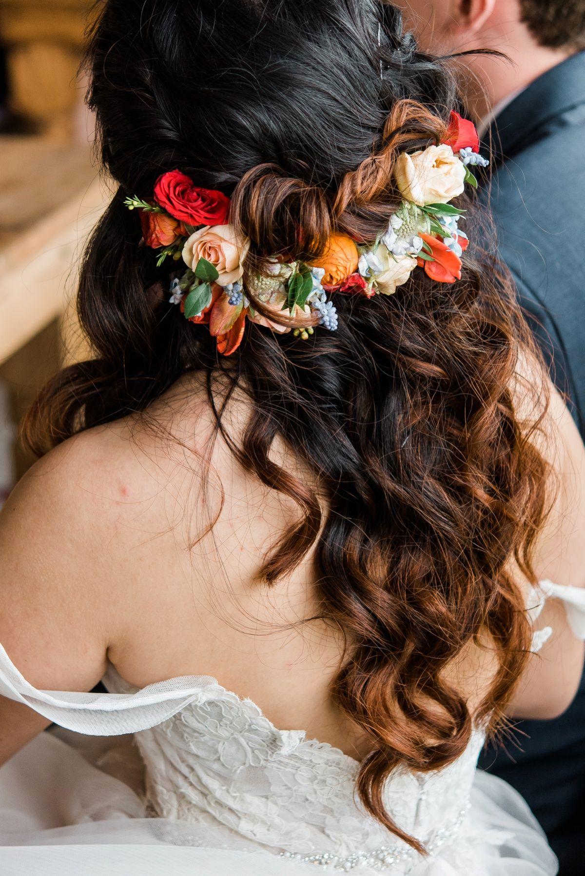 vibrant whimsical rustic acres farm wedding | wedding hair