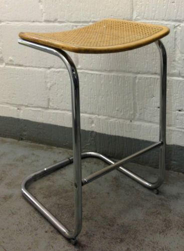 Marcel Breuer Bar Stool Cane 60s 70s Chrome Chair Danish Vintage