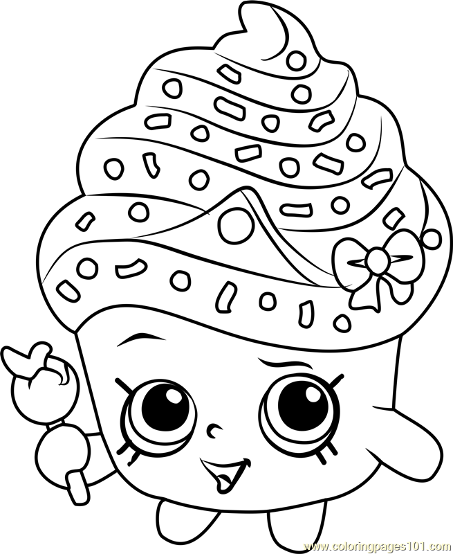 - Cupcake Queen Shopkins Coloring Page Free Shopkins Shopkin Coloring Pages,  Shopkins Colouring Pages, Shopkins Drawings