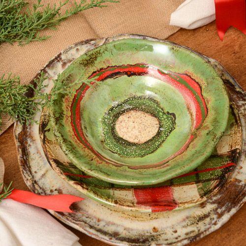 Etta B Christmas Bowls