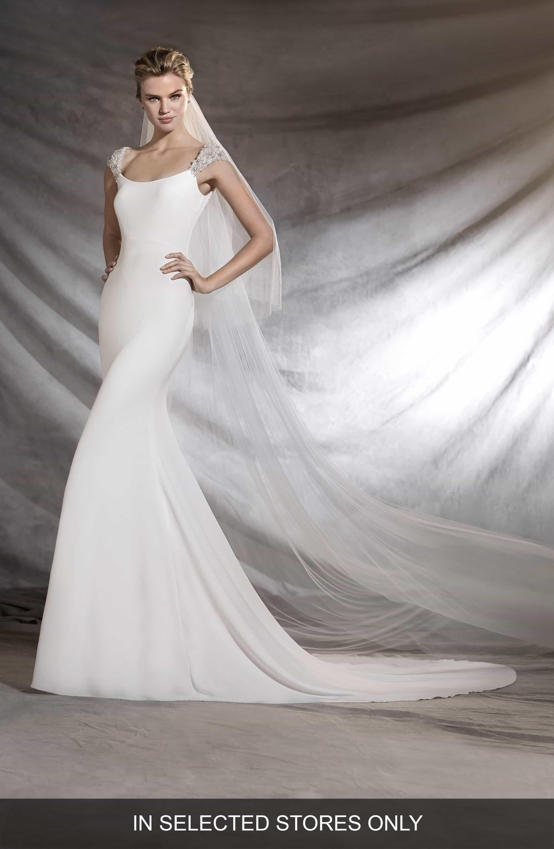 Pronovias Olimpia Embellished ALine Gown Pronovias