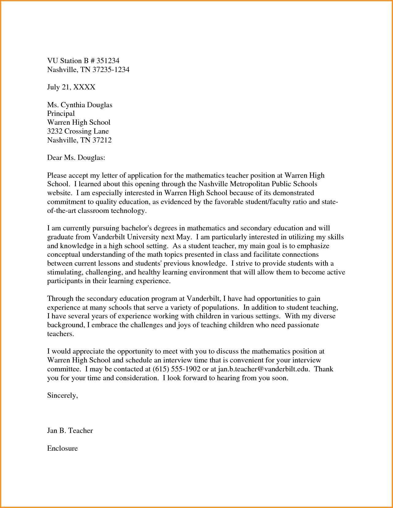 30 Teacher Cover Letter Teacher Cover Letter Example Cover Letter Teacher Teaching Cover Letter