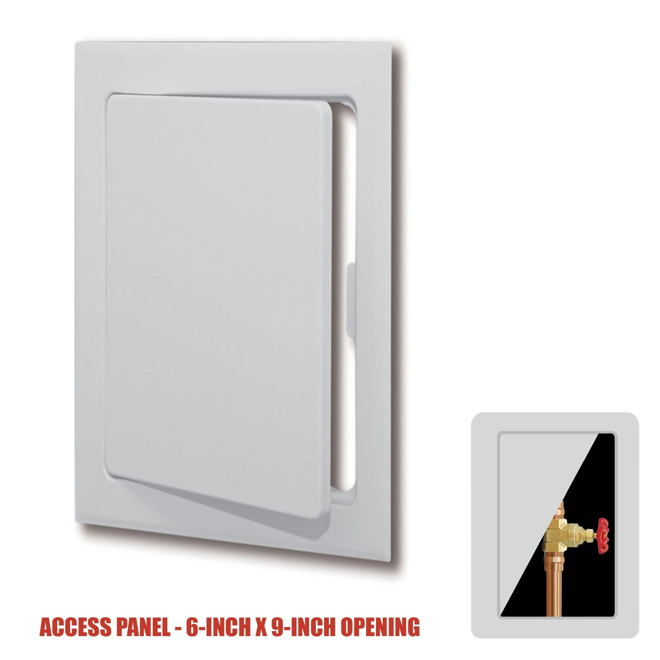 plumbest plastic snap ease wall or ceiling access panel for 6
