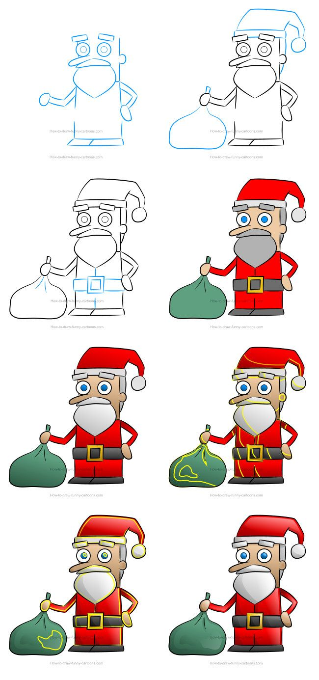 How to draw a Santa Claus clipart Santa claus clipart