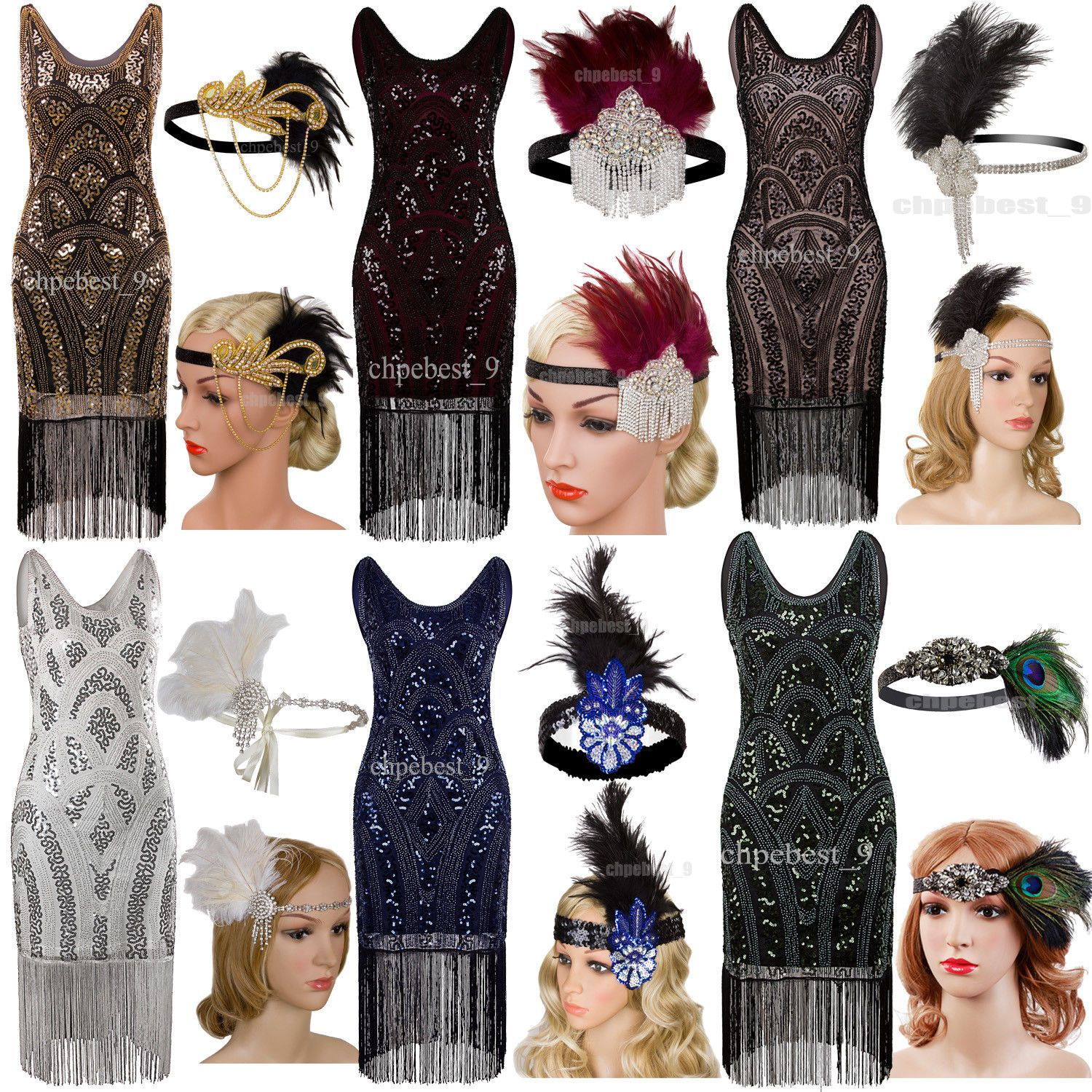 Vintage1920 S Flapper Dress Great Gatsby Party Evening Dresses Women S Costumes Gatsby Party Outfit Party Outfits For Women Vintage Style Party Dress