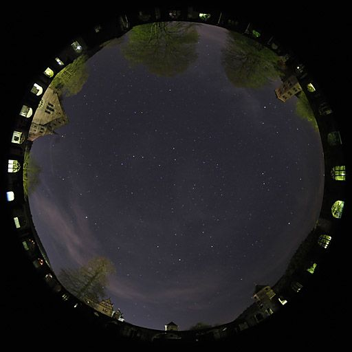 All Sky view from Hirsau monastery - Nightscapes - Digital Images of the Sky