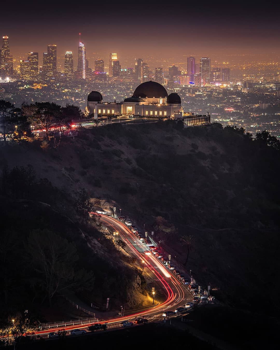 Night Lights Griffiths Observatory Los Angeles California By Gabe Rodriguez Los Angeles At Night Los Angeles California Photography Griffith Observatory