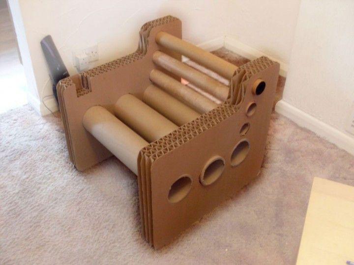 Alternative Design Interior with Cardboard Seating Sofa Furniture ...
