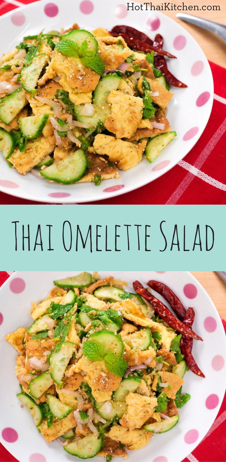 Spicy Omelette Salad (Laab Kai Jiew) ลาบไข่เจียว - Hot Thai Kitchen ...