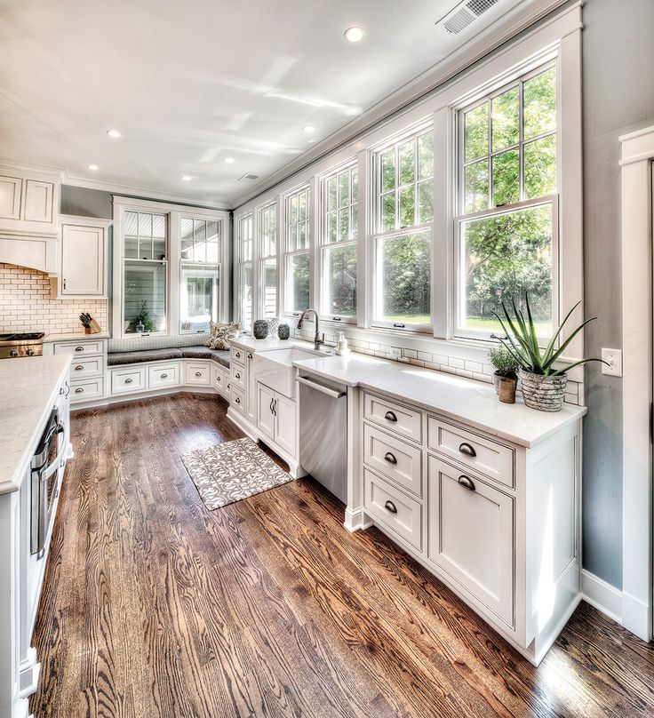 Kitchen Cabinet Makeovers On A Budget: Bay Window Dining And Island