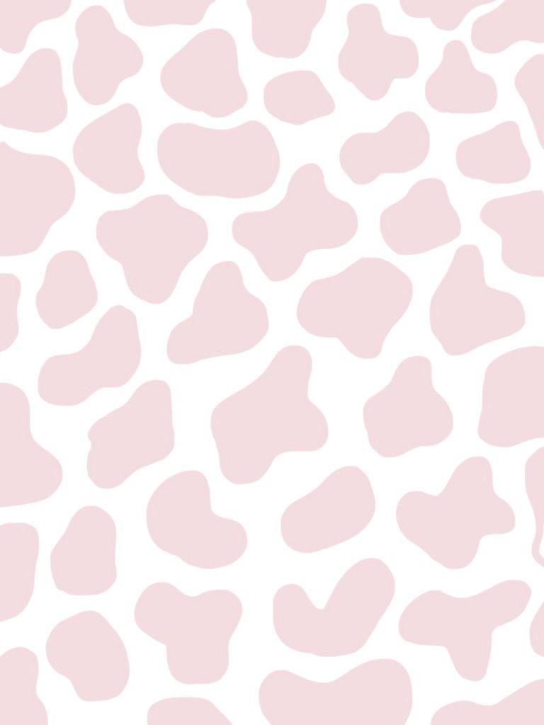 Cute Cow Wallpaper Pink