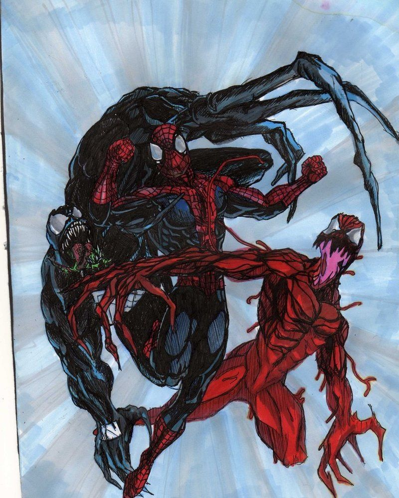 Spider Man Venom Carnage Tattoo: Spider-man Vs Carnage & Venom