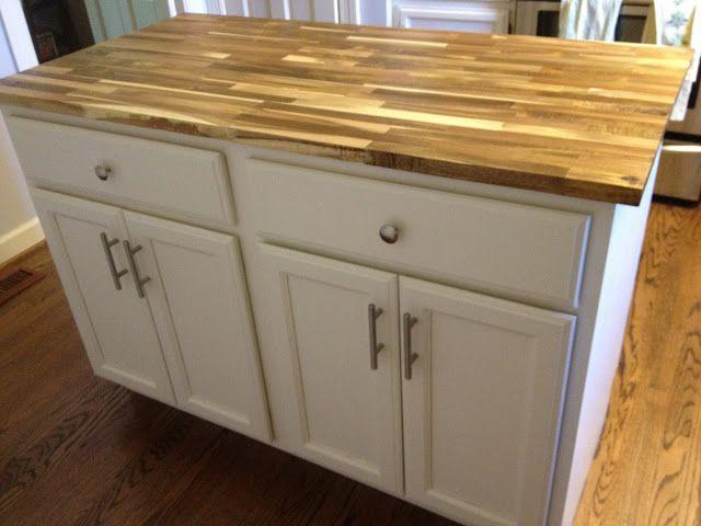 We Bought An Island Wood Countertops Kitchen Diy Countertops