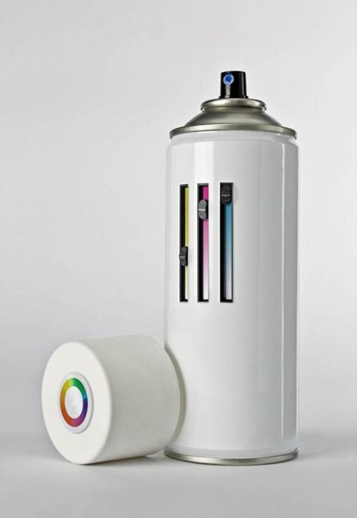 All-in-one spray can designed by Giuseppe C. AKA Mister Solo