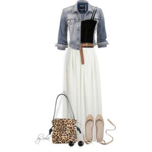 Belted Maxi Skirt (Outfit Only)