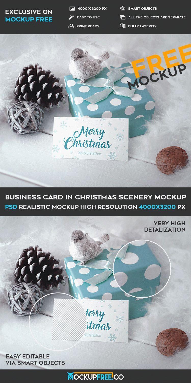 Mockup business card in christmas scenery psd templates mockup business card in christmas scenery psd templates tayloradams4me on creativemarket flashek Gallery
