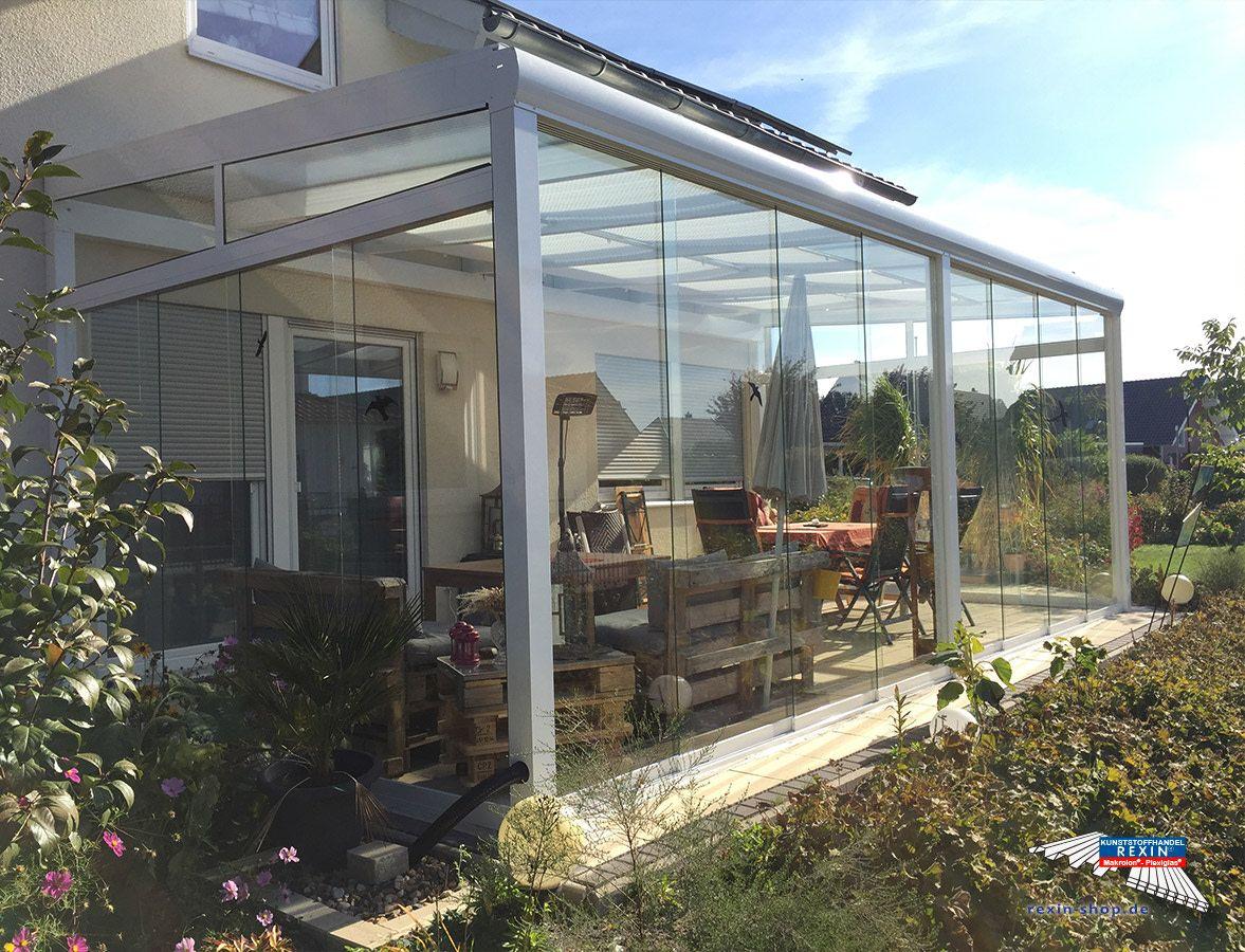 Ein Alu Terrassendach Der Marke Rexopremium 5 86m X 3 50m In Weiss Mit Makrolon Uv 2 16 30 Stegplatten Uberdachung Terrasse Terrassenuberdachung Terrassendach