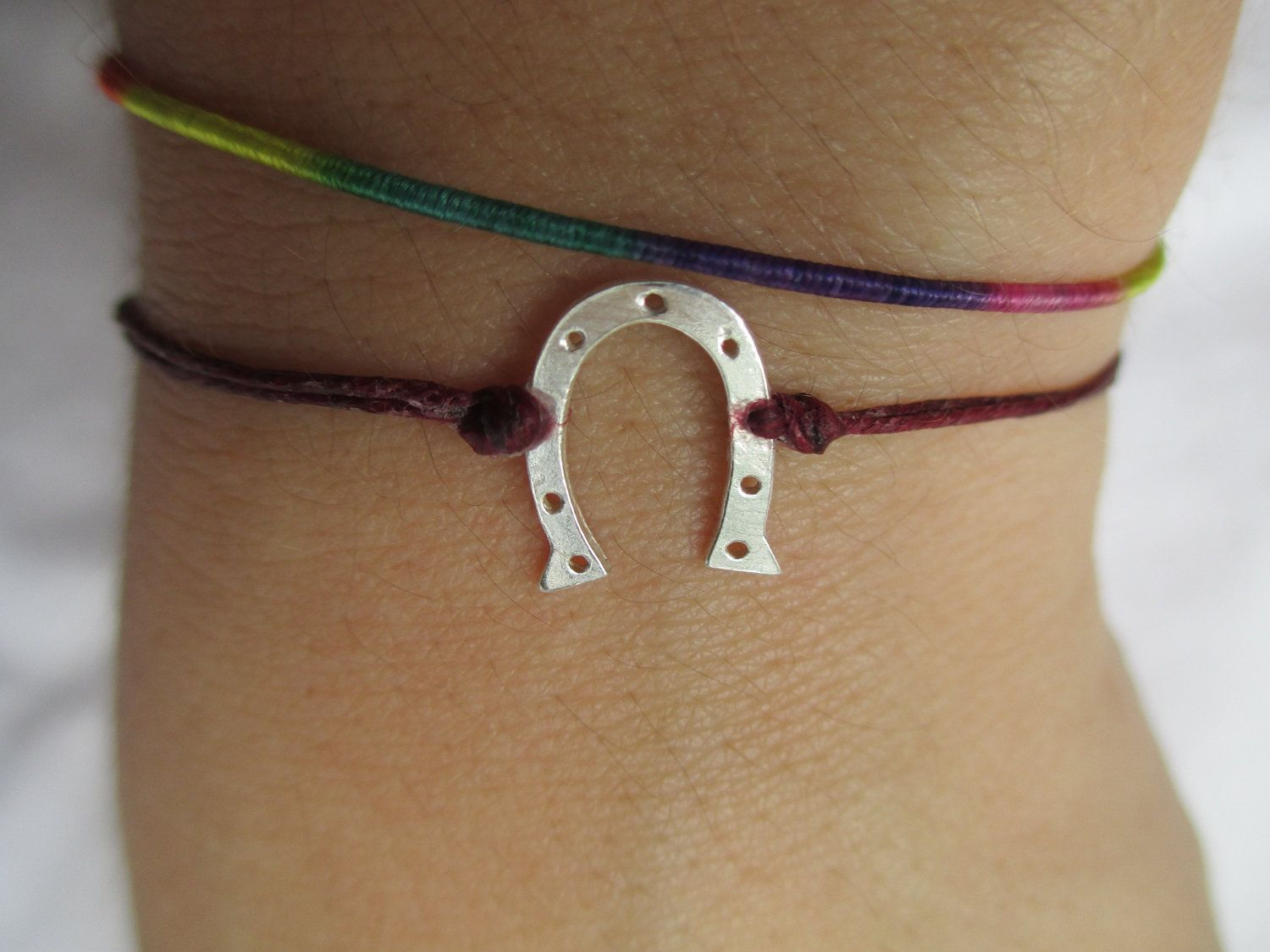 925 Stamped Sterling Silver Lucky Horseshoe by HauteHomemades, $14.50