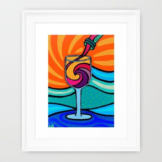 Wine and Waves  by Leslie Baylinson