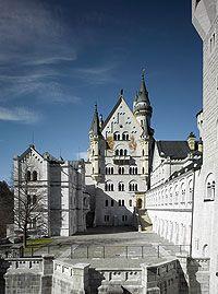 Picture Castle Courtyard Neuschwanstein Castle Germany Castles Castle