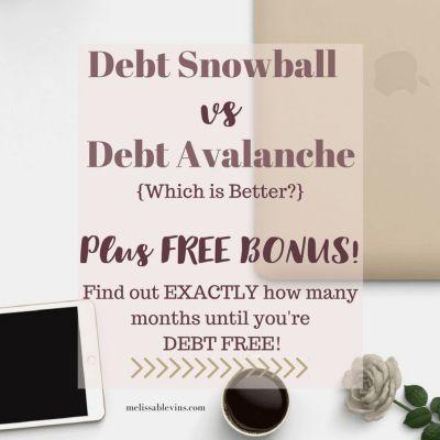 Debt Snowball vs Debt Avalanche {Bonus FREE Debt Snowball