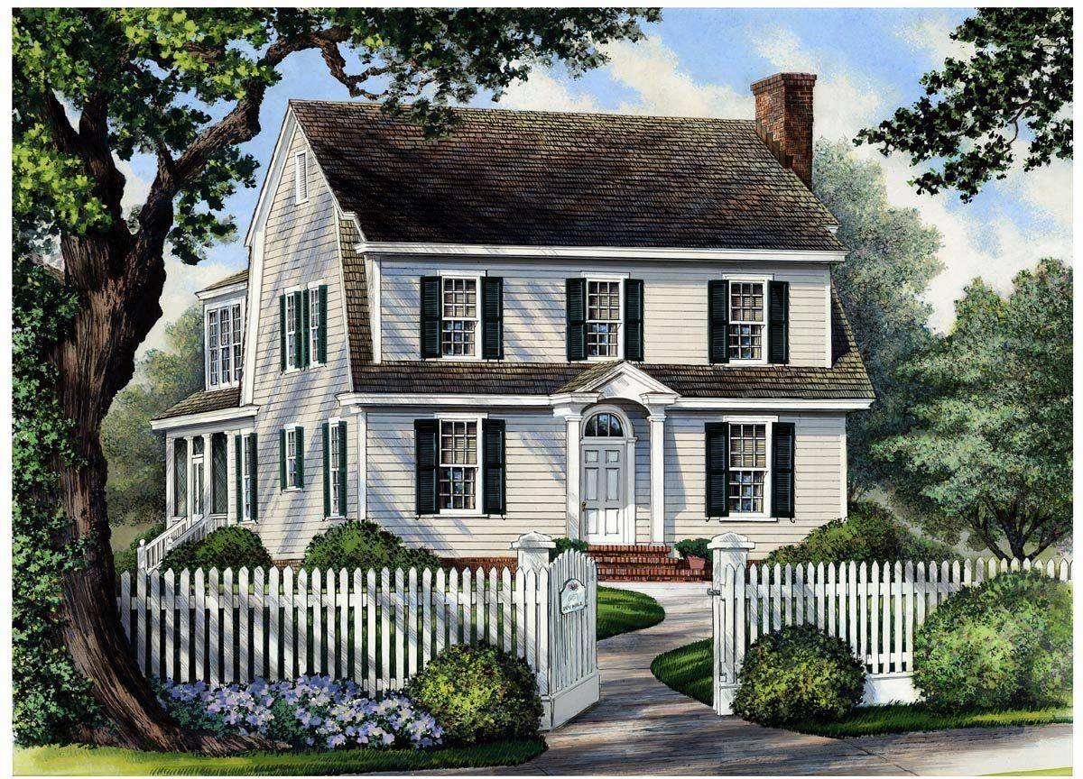 Colonial Country House Plans Unique Colonial Cottage Country Farmhouse House Plan With Colonial House Exteriors Cottage House Plans Colonial House Plans