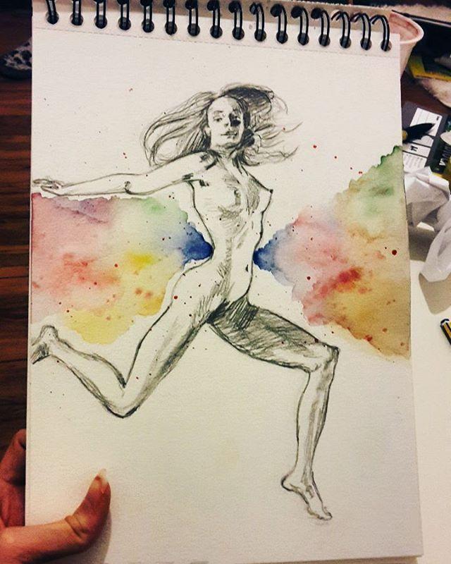 Schöne Körper in Bewegung☺ #aquarell #aquarellfarben #watercolor ...