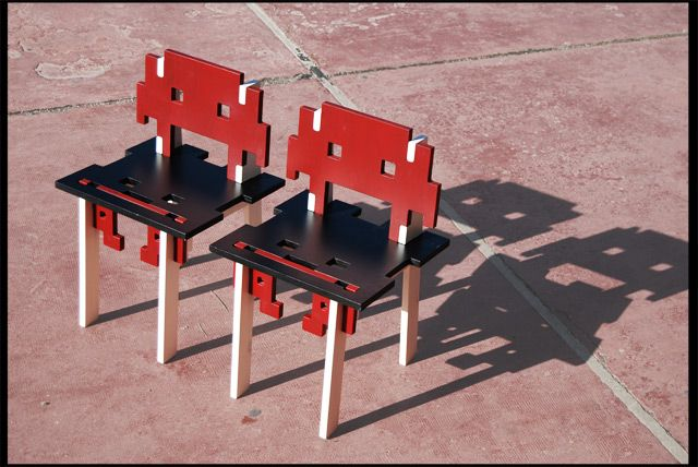 Space Invaders chairs