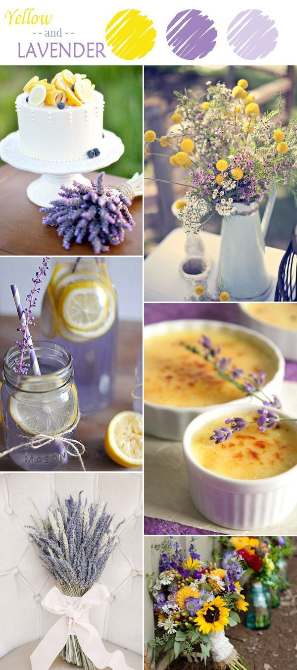 Chic Rustic Yellow And Lavender Wedding Color Schemes
