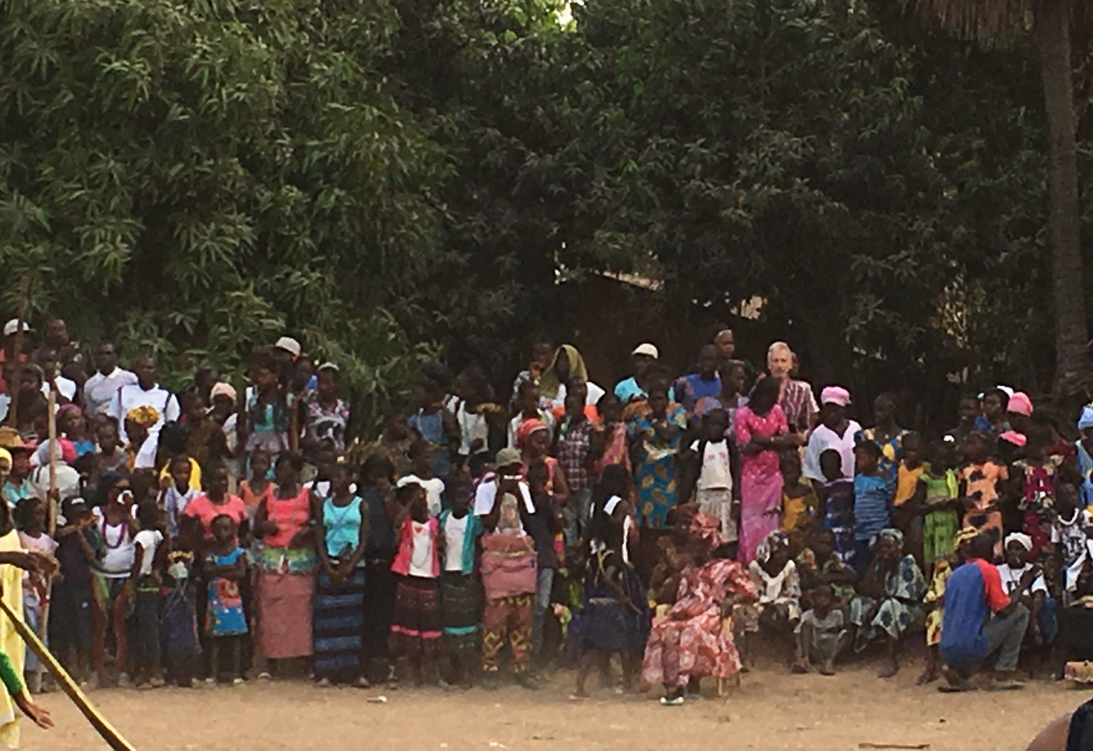 Público en la fiesta de Iniciación, Oussouye, Cassamance