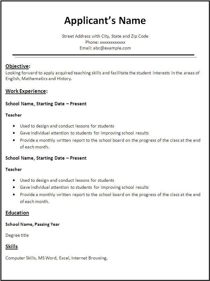 Resume Templates For Free Resume Templates Word Free Download  Httpjobresumesample