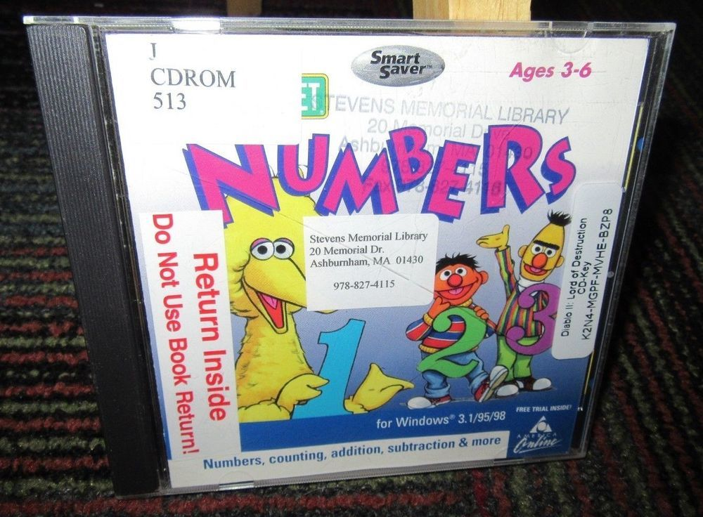 SESAME STREET: NUMBERS PC CD-ROM LEARNING GAME, 8 ACTIVITIES FOR