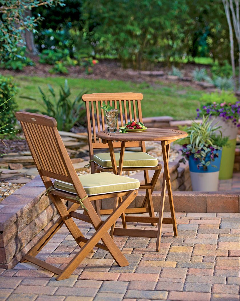 Three-Piece Bistro Set is the Perfect Table for Two | Bistro Table ...