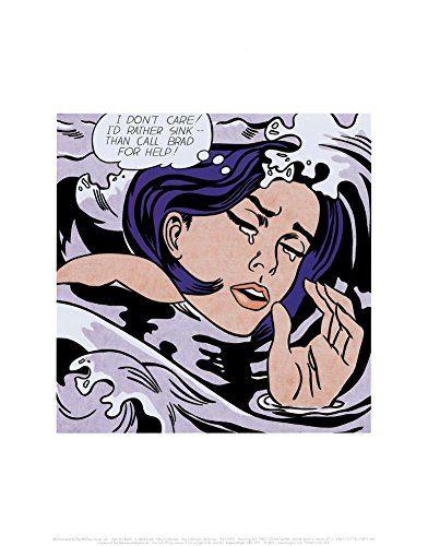 Drowning Girl by Roy Lichtenstein Art Print Pop Poster 11x14