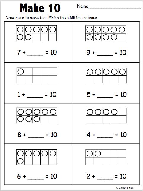 Let S Make 10 Free Kindergarten Worksheet Made By Teachers Free Kindergarten Worksheets Kindergarten Books Kindergarten Worksheets