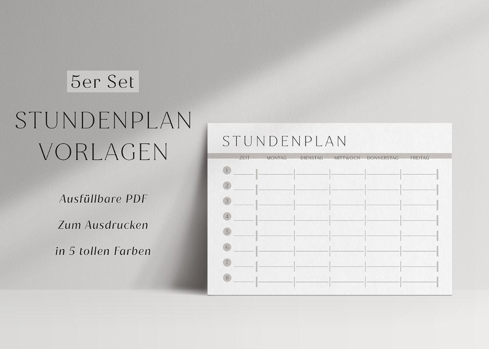 Stundenplan Zum Ausdrucken 5er Set Pdf Ausfullbar Swomolemo In 2020 Stundenplan Ausdrucken Stundenplan Stundenplan Vorlage