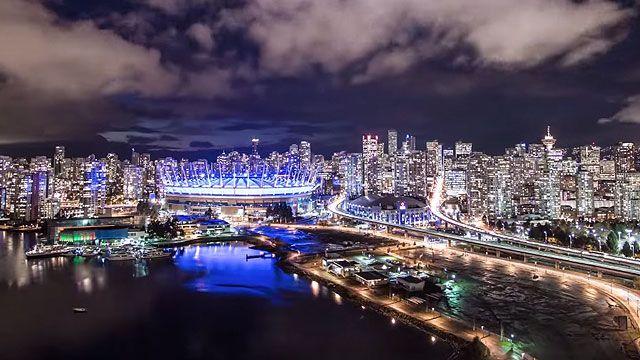 Vancouver City Lights Timelapse