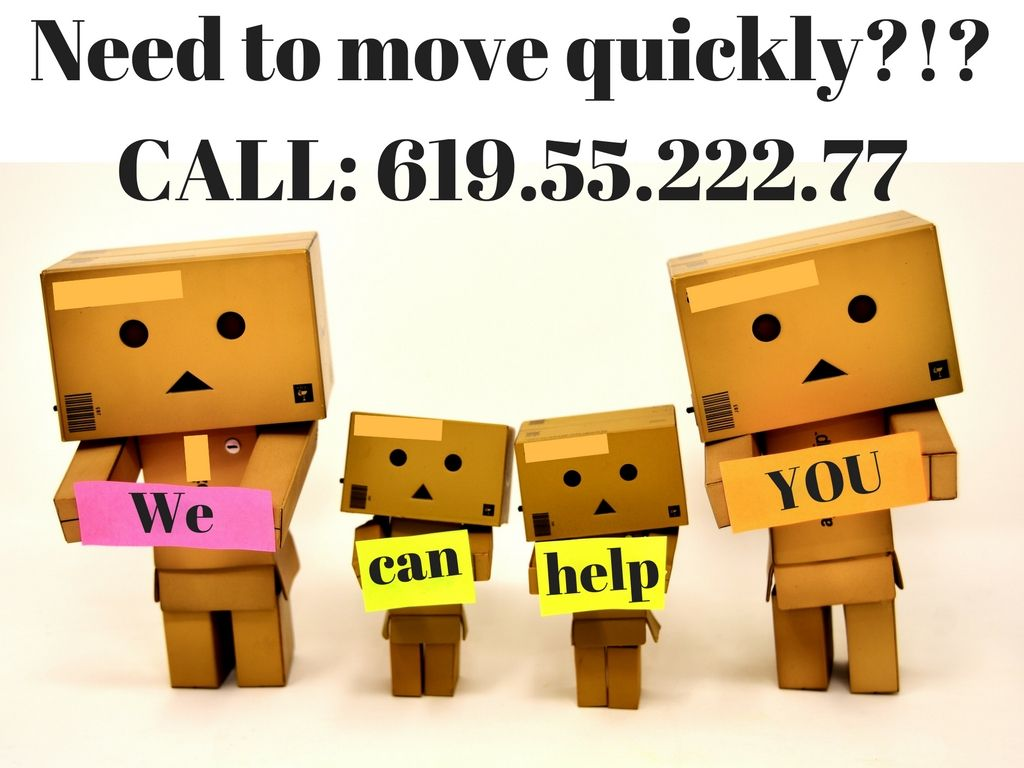 Need to move quickly? We'll do the packing for you!