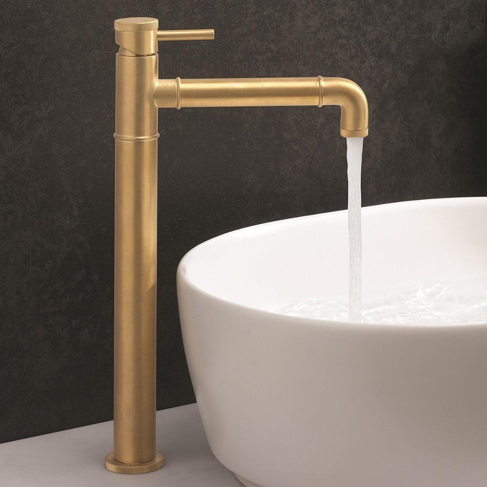 Crosswater Mpro Industrial Brass Tall Basin Tap In 2020 Tall Basin Taps Basin Taps Bathroom Taps