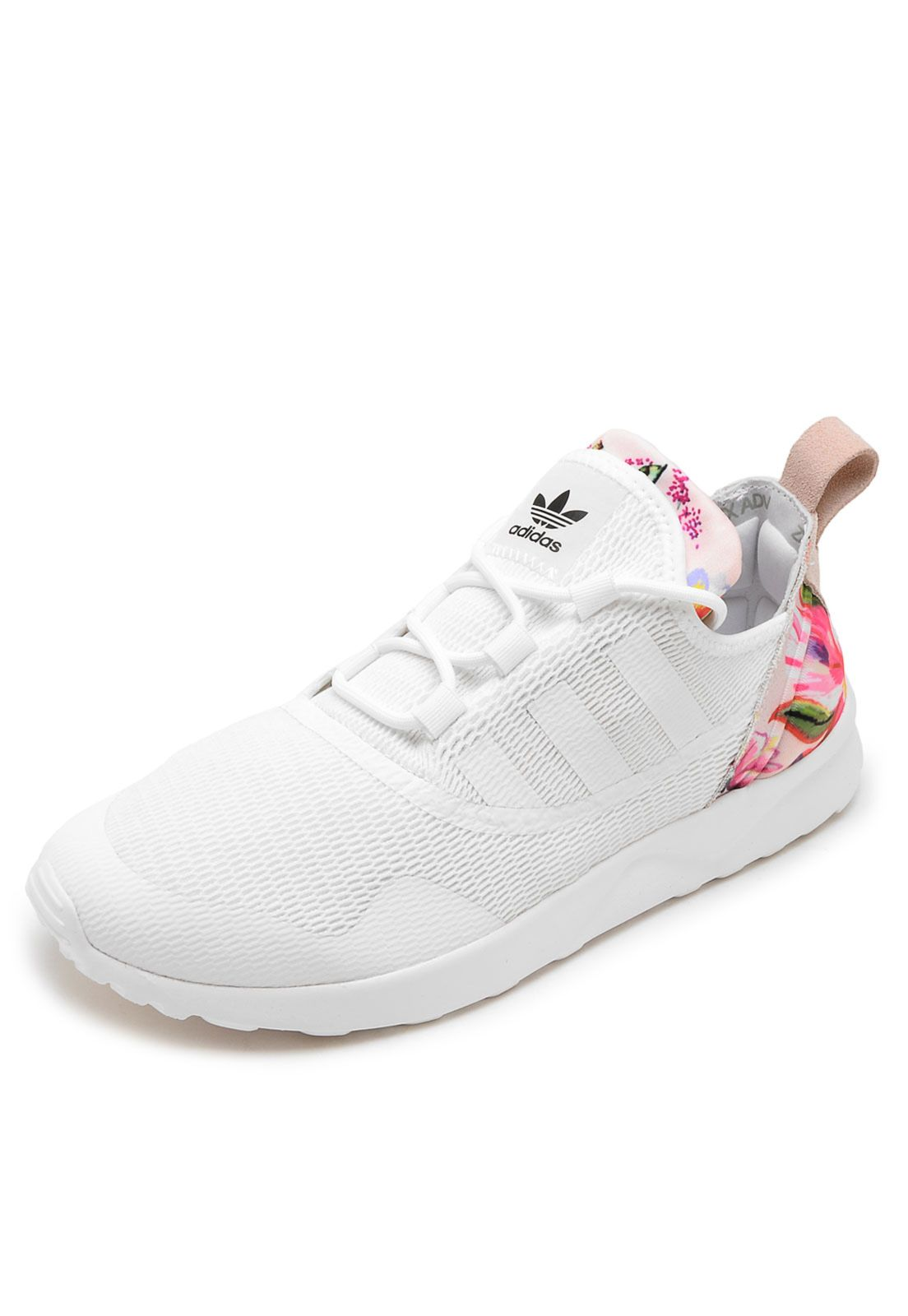aab5b248d Tênis adidas Originals Farm ZX Flux ADV Virtue Branco - Marca adidas  Originals