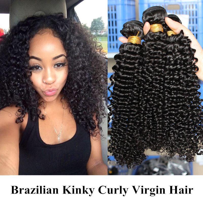 Brazilian Kinky Curl 20 Inch Hair Extensions No Shedding No