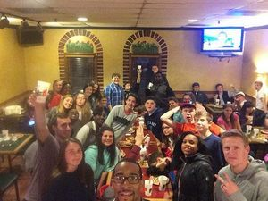 We dominated Garibaldi's tonight at The Spot!! Operation Domination... Mission Accomplished! #HarvestStudents