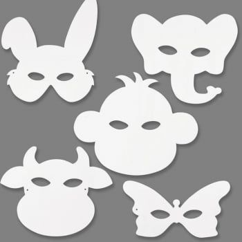 Card Masks To Decorate Made From Heavy Duty White Card These Masks Are Ready To Decorate