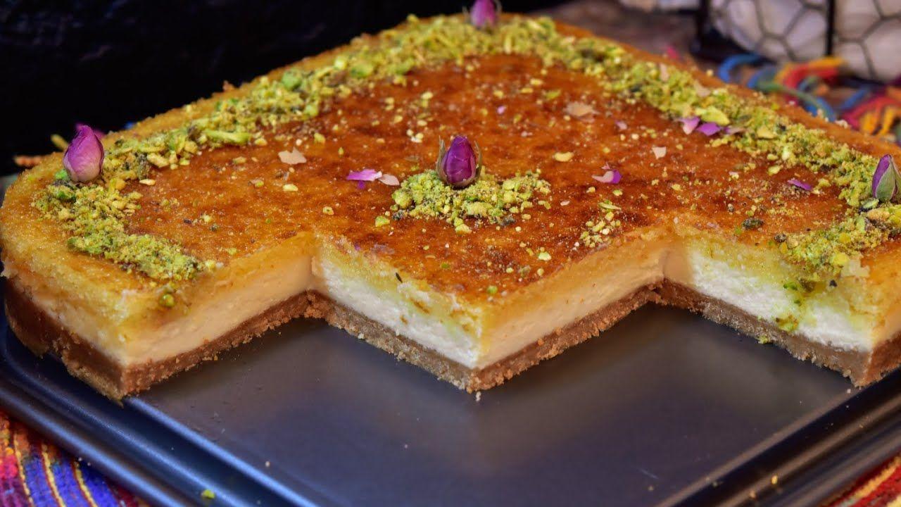 تشيز كيك البسبوسه لازم تجربوها الطعم ولاغلطه Basbousa Cheese Cake Youtube Arabic Dessert Middle Eastern Recipes Desserts