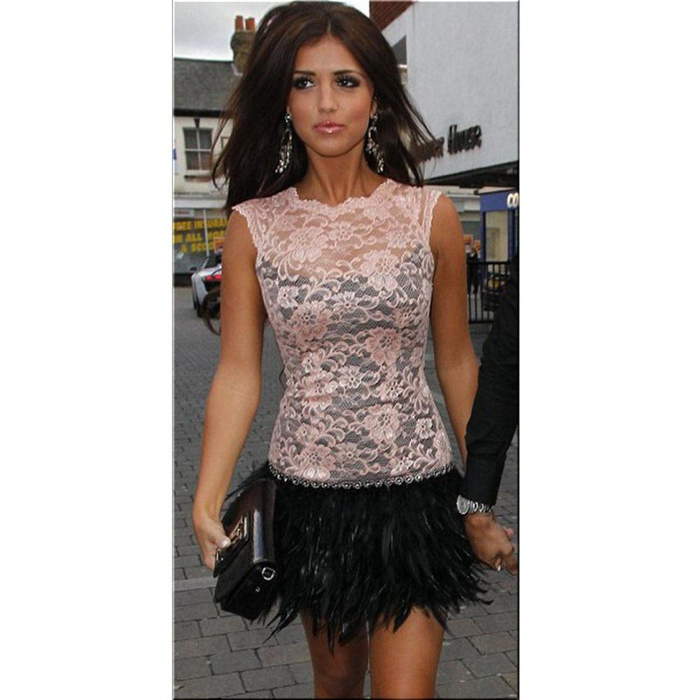 Lace feather dress... I need this in my life ASAP!!