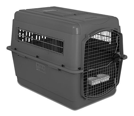Petmate Sky Kennel For Pets From 70 To 90 Pound Light Gray Airline Pet Carrier Dog Travel Cage Dog Carrier