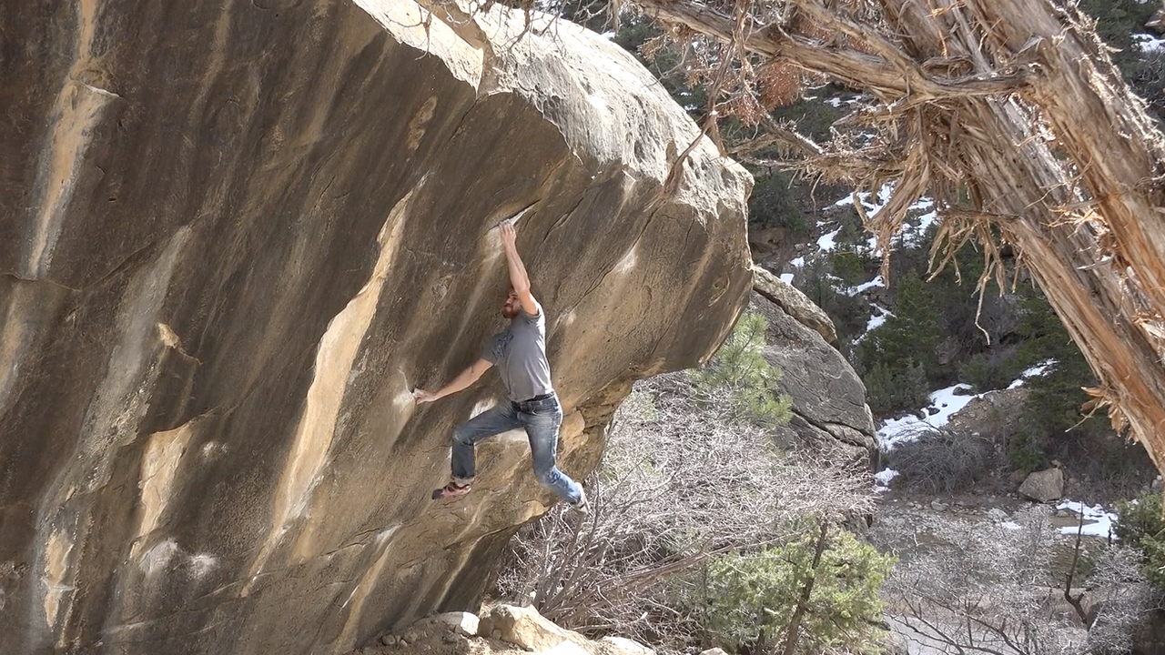 Climber and filmmaker Michael Sabatini puts together an impressive ticklist in Joe's Valley, Utah: Anti-Future Plan v8The Cosmos v9Fingerhut v10They Call Him Michael v10