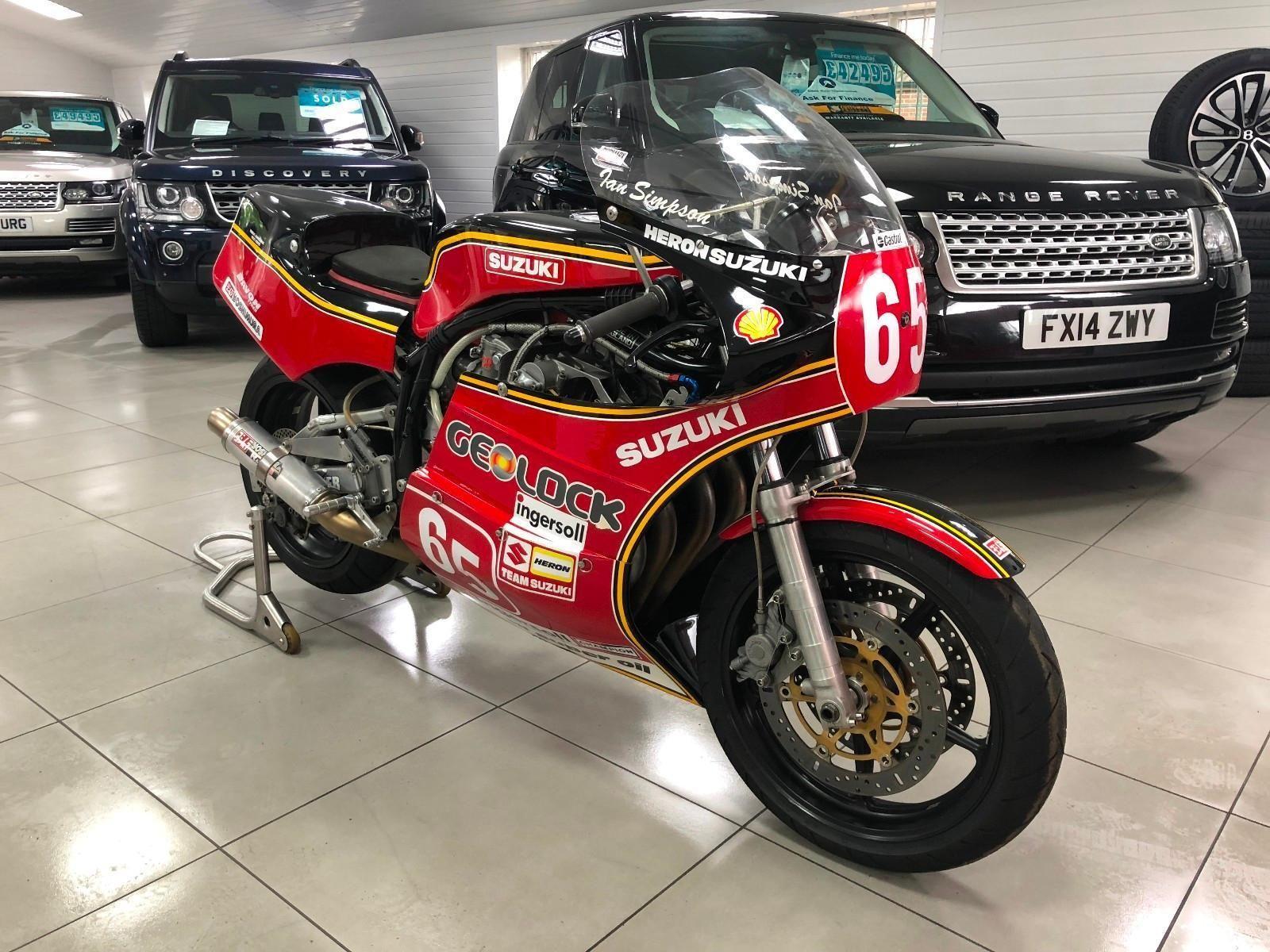 Suzuki Xr69 In Texaco Heron Classic Motorcycle Race Bike Ex Ian
